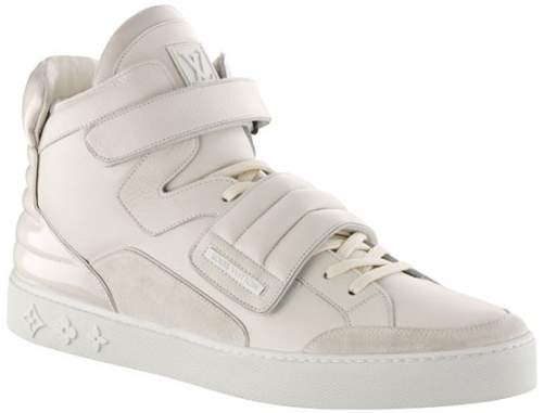 Louis Vuitton Jaspers Kanye Cream In 2019 Louis Vuitton High Tops Louis Vuitton Sneakers Louis Vuitton Prices