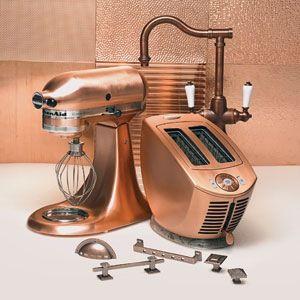 Copper Small Kitchen Appliances (interior Design, Tech)