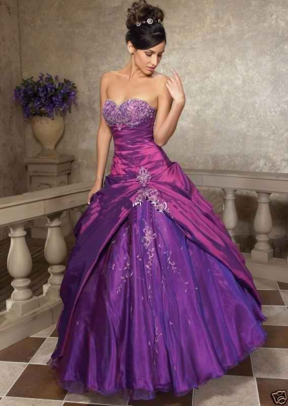 interesting purple wedding dress think id want white with purple ...