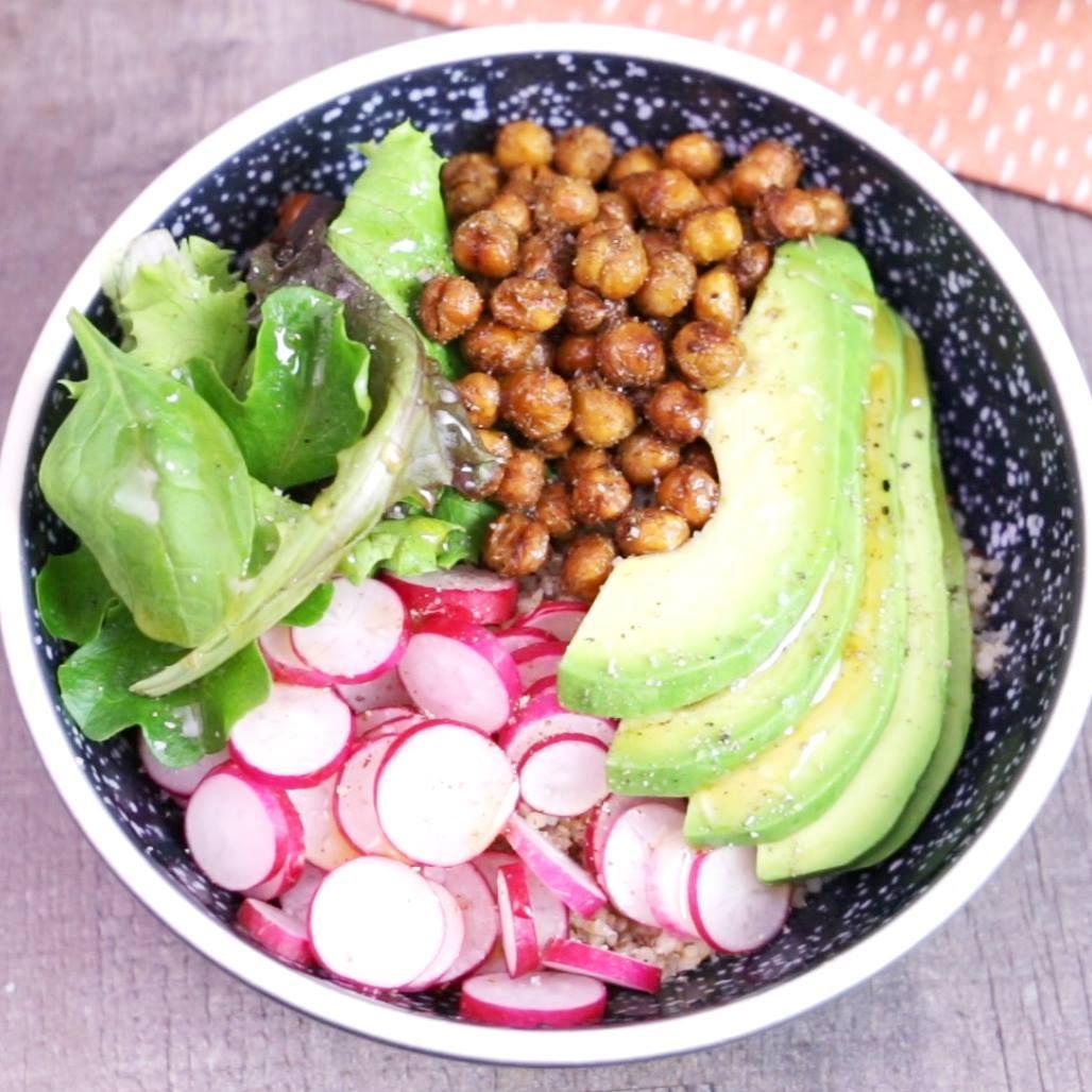 Salade de pois chiches croustillants