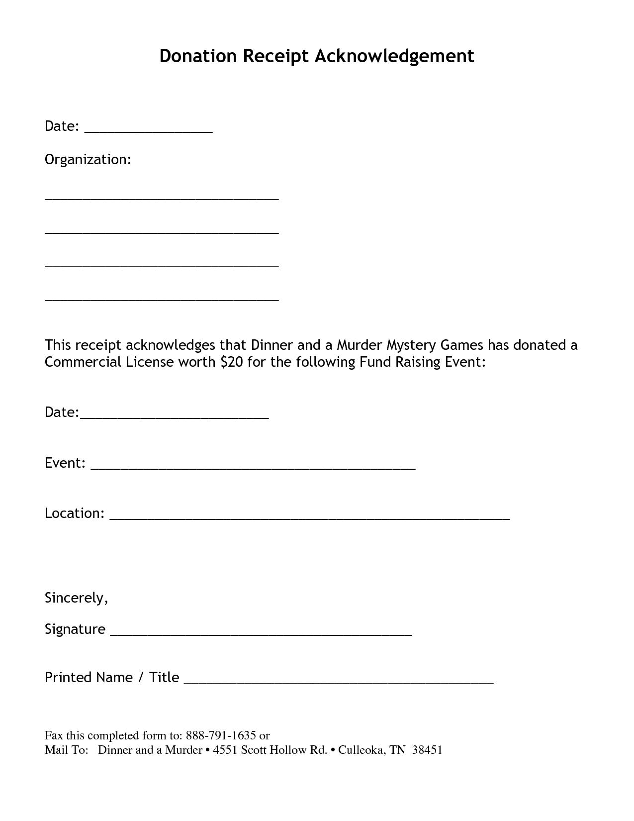 Non Profit Donation Receipt Letter  Things  Stuff