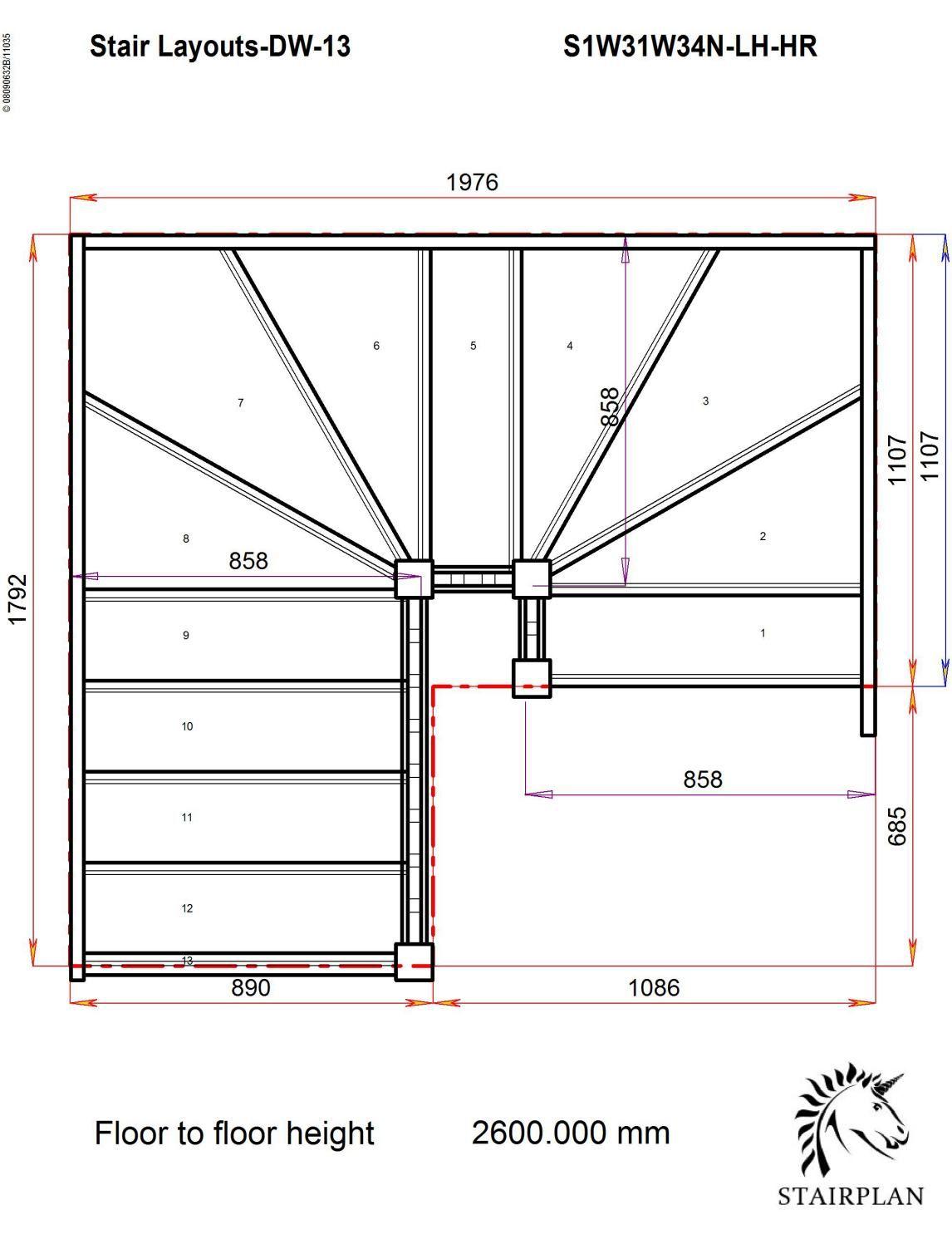 Best Tradestairs Lh Double Winder Hr Stair Plan Stairs 400 x 300