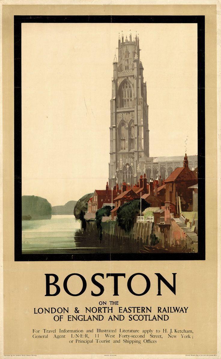 Vintage LNER Lincolnshire Coast Railway Poster A3//A4 Print