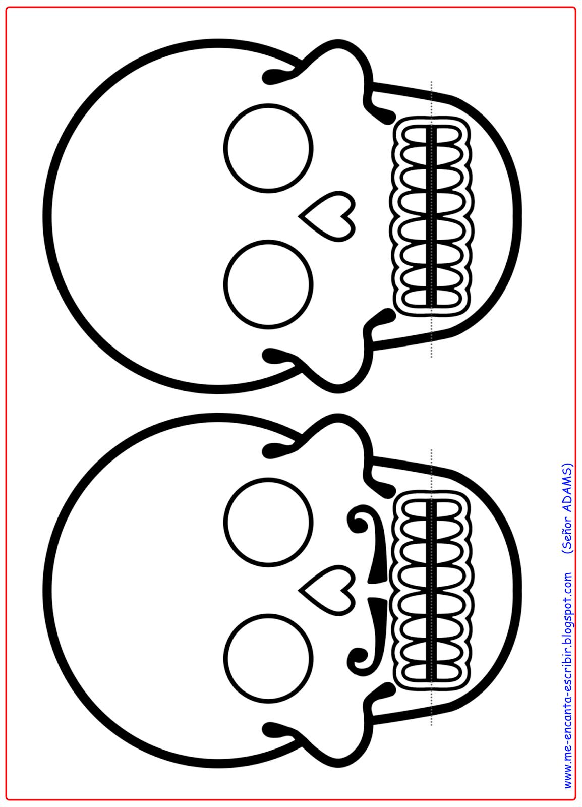 Vamos a crear e ilustrar una calavera para la fiesta del Día de los ...