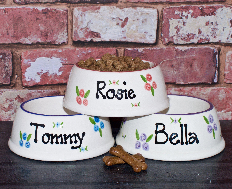 Small Slanted Bowl Dog Bowl Cat Bowl Personalised Dog Bowl Cat Bowl With Name Dog Food Bowl Ceramic Dog Bowl Custom Dog Bowl Dog Bowls Personalized Dog Bowls Dog Food Bowls