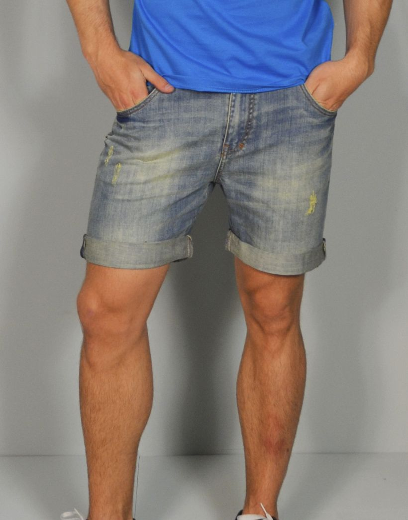 Pantalon Corto Vaquero Desgastado Con Vuelta Moda Para Hombres Online En Tiendas13 Com Denim Fashion Mens Street Style Fashion