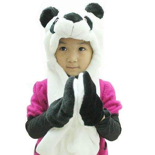 1d931528fca Hee Fly Plush Animal Winter Hats with Paws Type Panda Hee  Fly