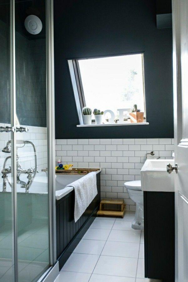 badezimmer schwarz im dachgeschoss Badezimmer Ideen u2013 Fliesen - badezimmer ideen dachgeschoss