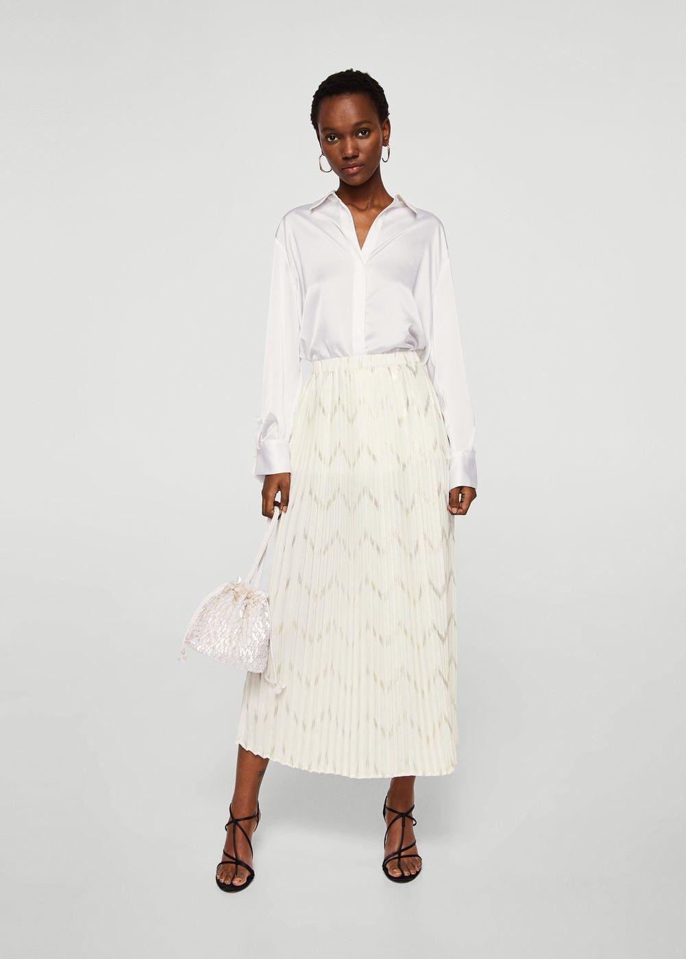 fd8600035 Falda plisada textura - Faldas de Mujer | MANGO SPECIALS | Faldas ...