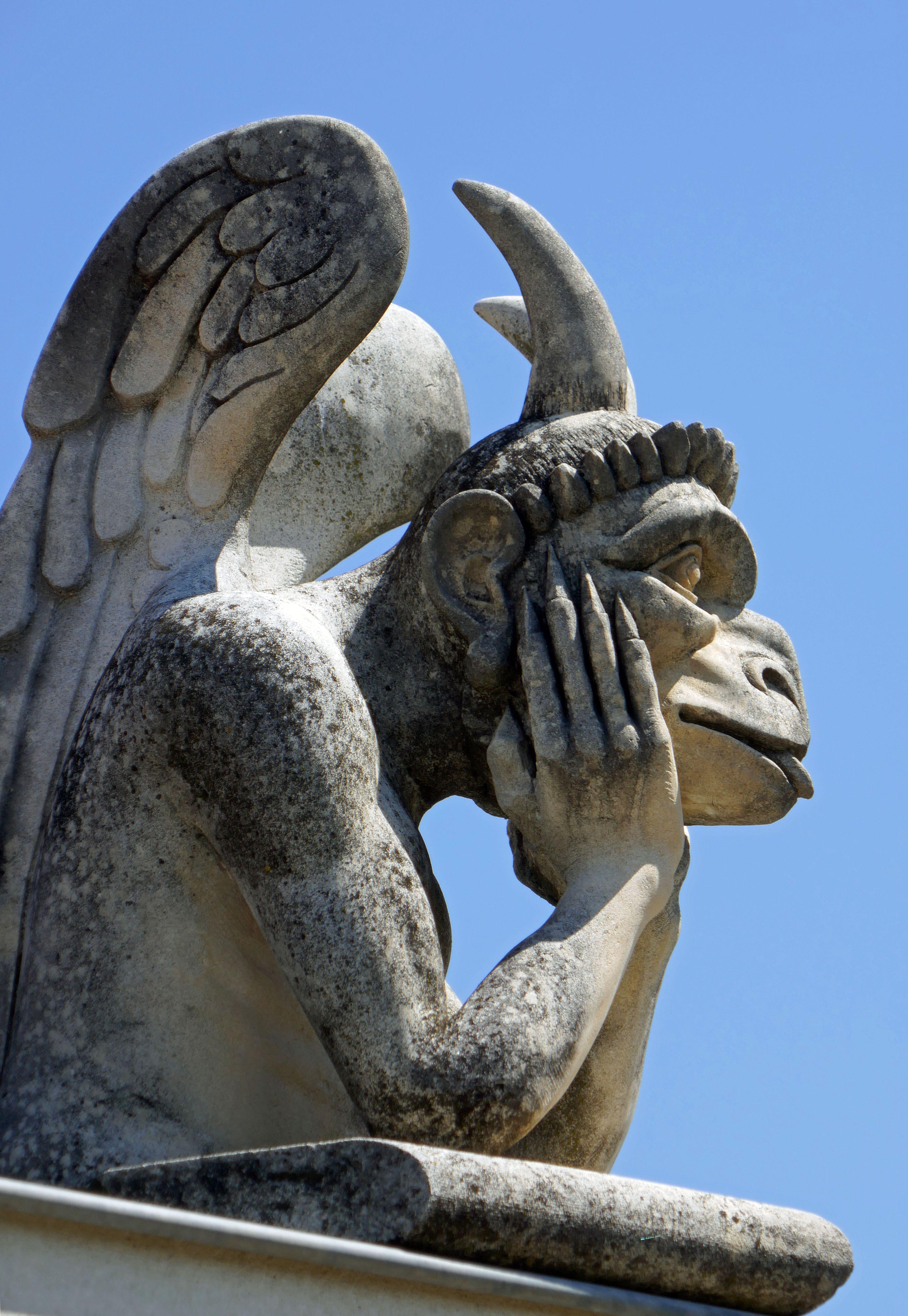 Alain Bidal il est venu le temps des cathédrales. belle gargouille sculptées