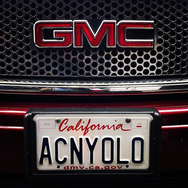 What Does Your Acn License Plate Say Acn Yolo Plates Acne