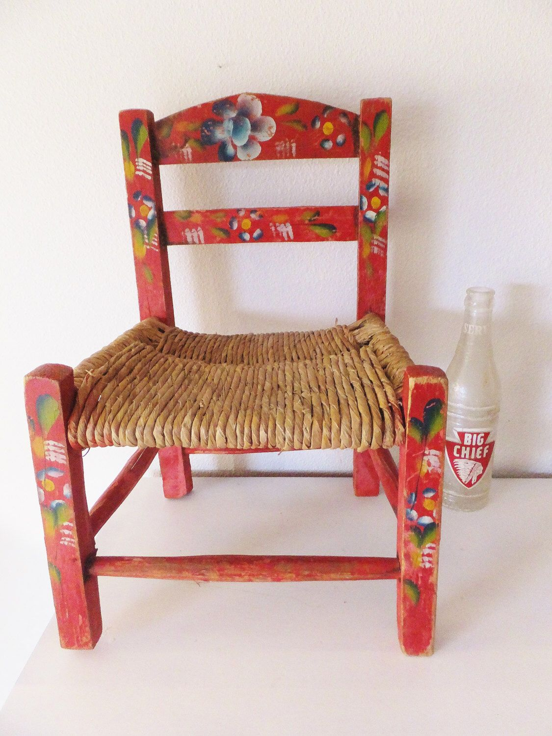 Mexican Rocking Chair Vintage Mexican Child S Chair Small Decorative Chair Hand