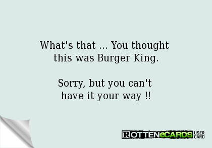 have it your way burger king - Google Search