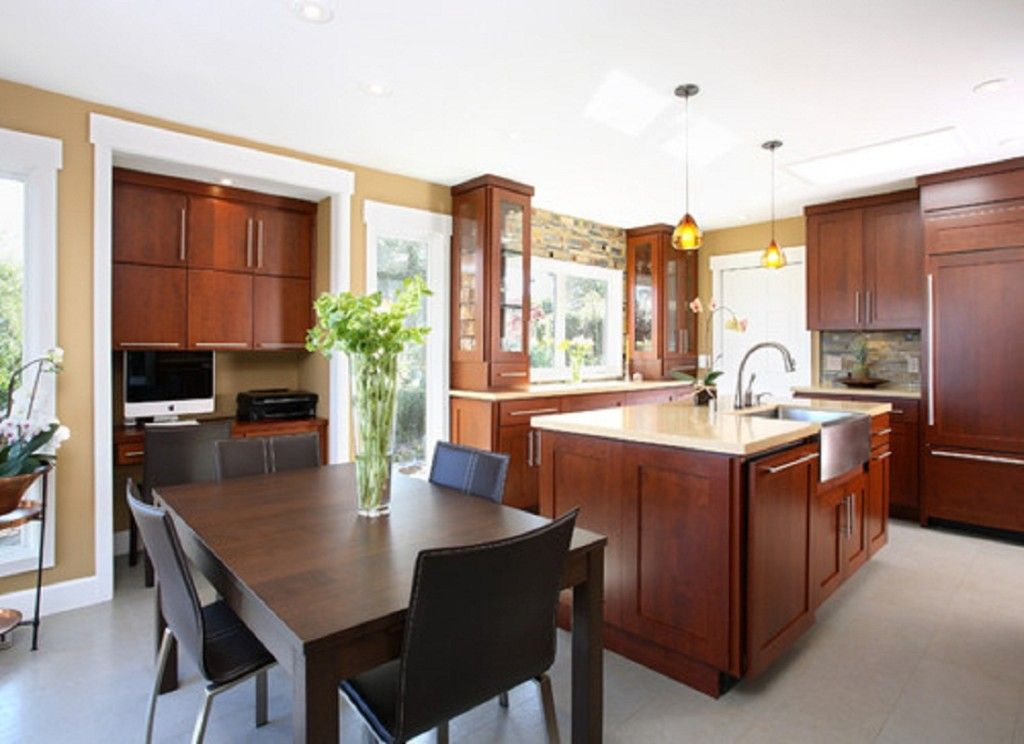 cherry cabinets with painted walls | Kitchen Wall Colors ...