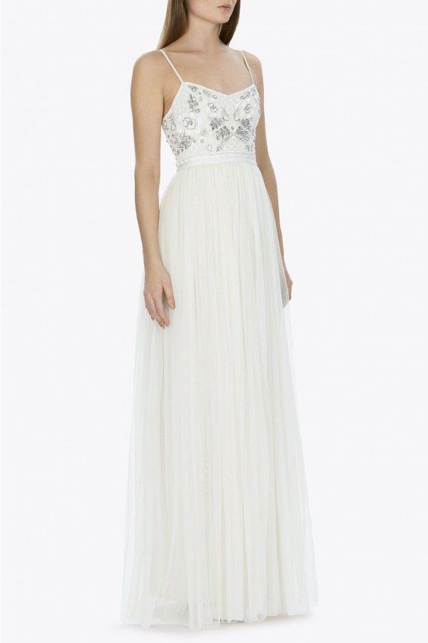 BRIDAL GRAPHIC ROSE MAXI DRESS