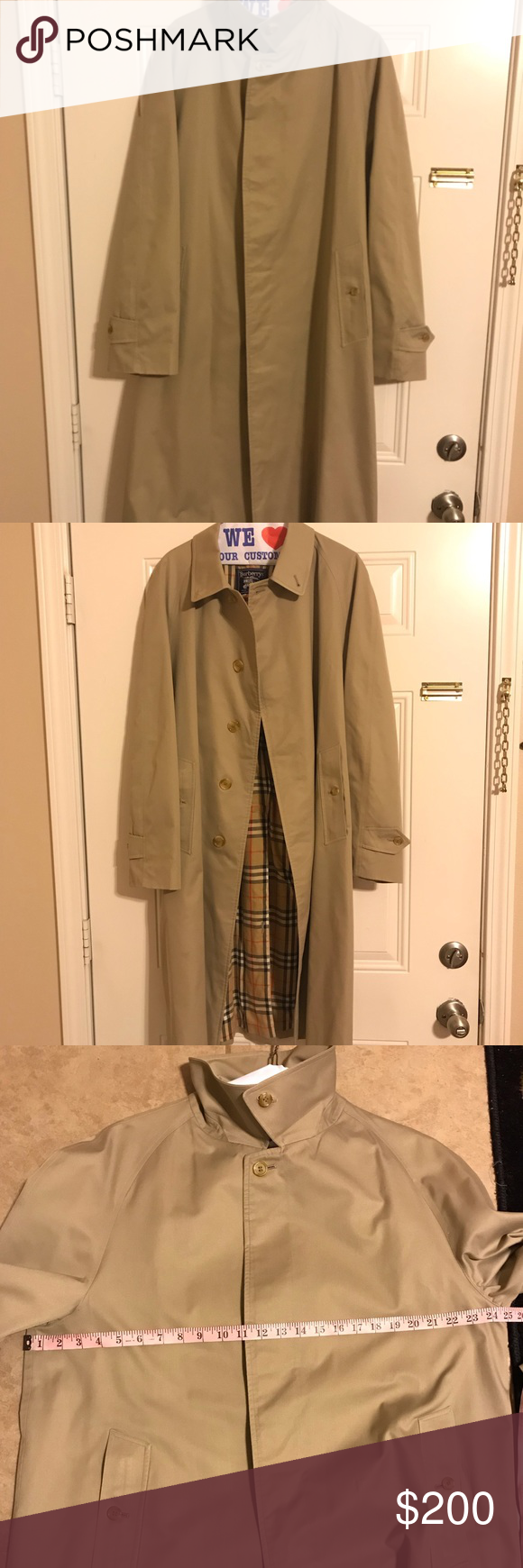 Authentic Burberry Trench Coat Vintage 80 S Xxl Please Use Measurements Coat Is In Great Condition No Belt All Burberry Trench Coat Trench Coat Burberry Trench