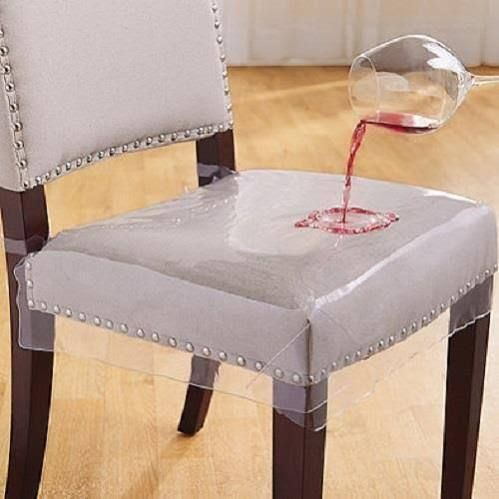 Incroyable Clear Chair Seat Protectors (Set Of 2)