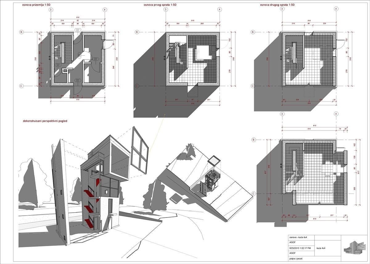 Ando tadao rokko house pinterest - Dap Revit Architecture Tadao Ando House 4x4 On Behance
