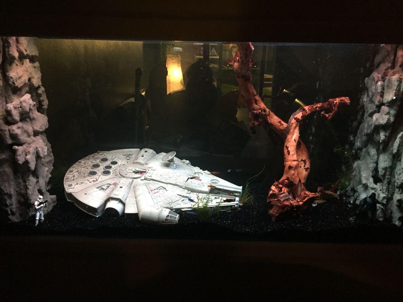 Star Wars Themed Fish Tank Fish Tank Fish Tank Decorations Aquarium Setup