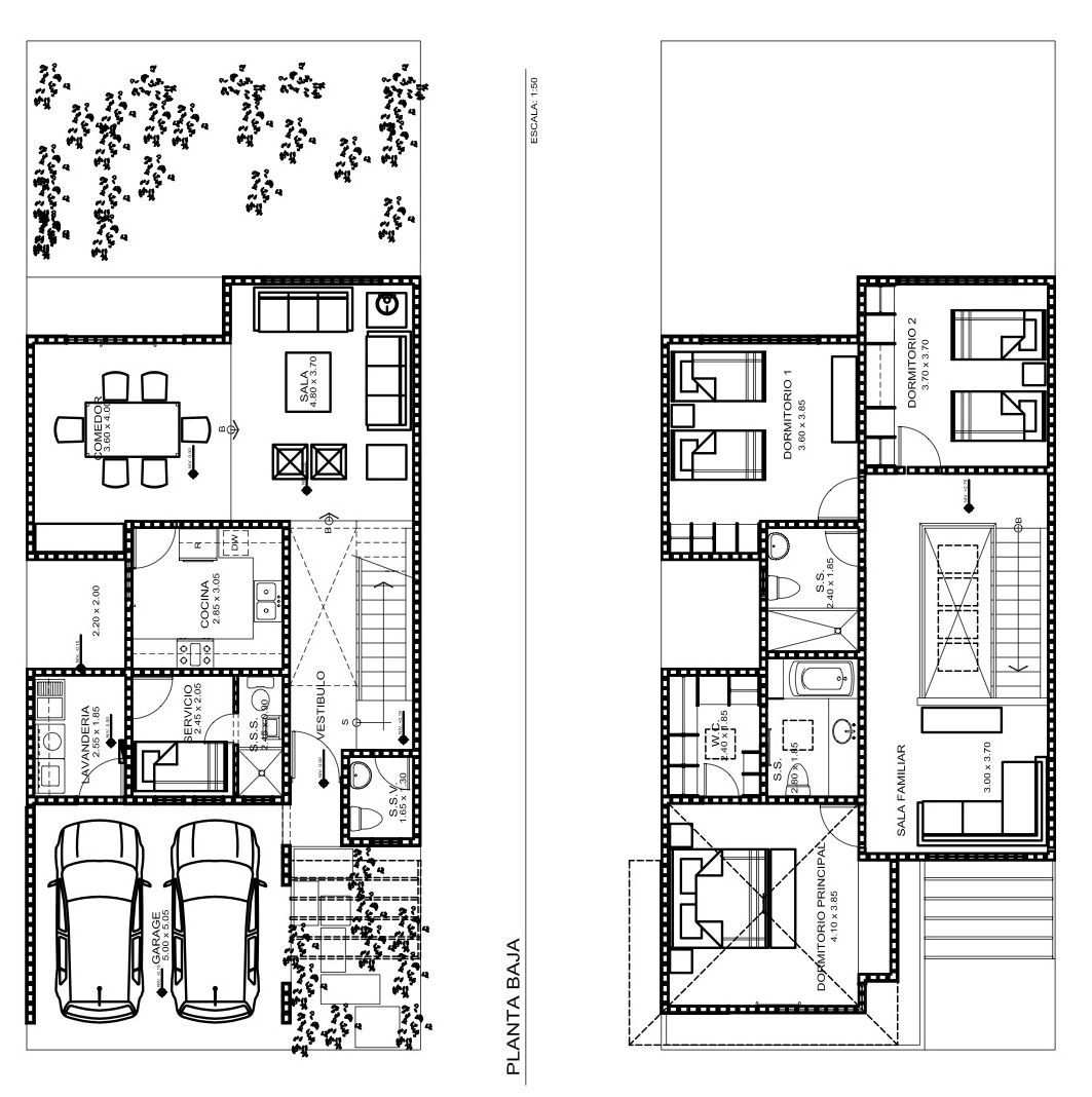 Planos de casas con sala a doble altura buscar con google maison