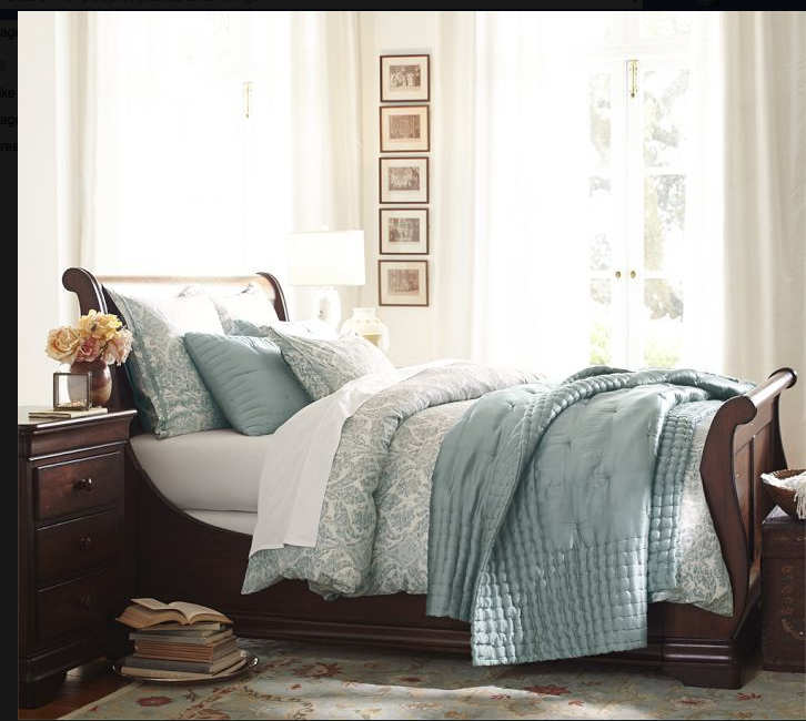50 Sleigh Bed Inspirations For A Cozy Modern Bedroom: Home Bedroom, Bedding Master Bedroom, Home
