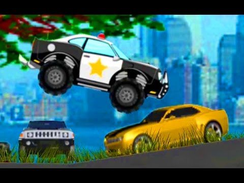Monster Truck Police Car Game Cartoon For Kids Monster Truck