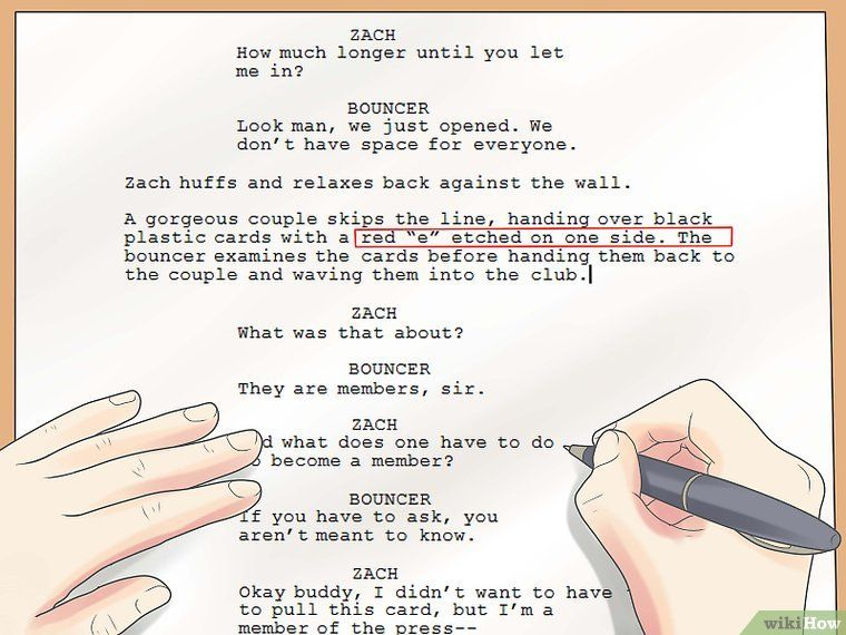 How To Write A Script With Pictures Writing A Movie Script Short Film Scripts Film Script