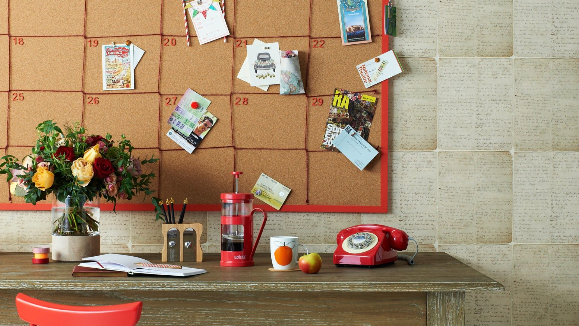 create your own pinboard diary using corkboard and string on inspiring workspace with a cork wall creating a custom cork board for your home id=22767