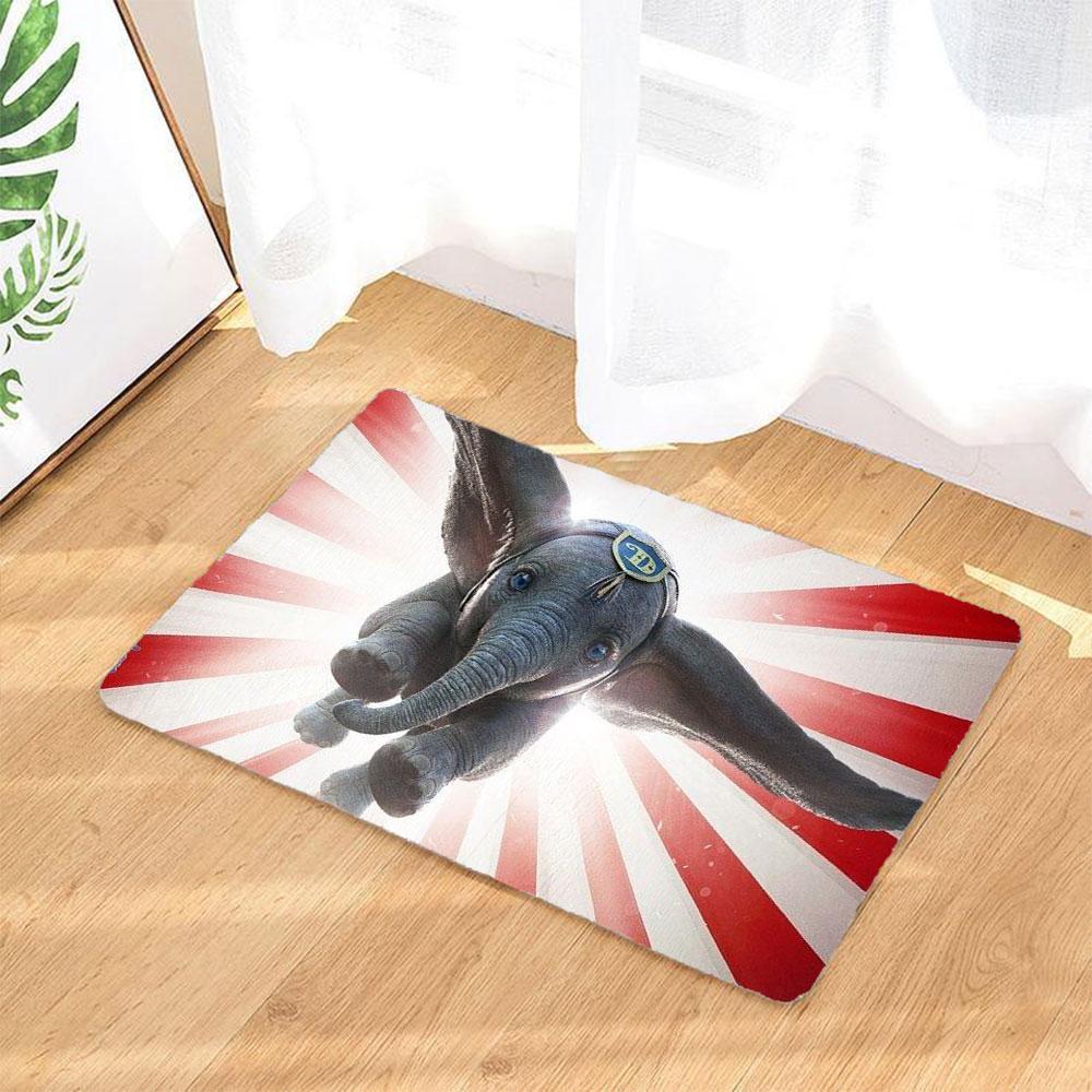 Dumbo Cartoon 3d Graphic Rugs Doormats Home Decoration Graphic Rug Dumbo Cartoon Door Mat