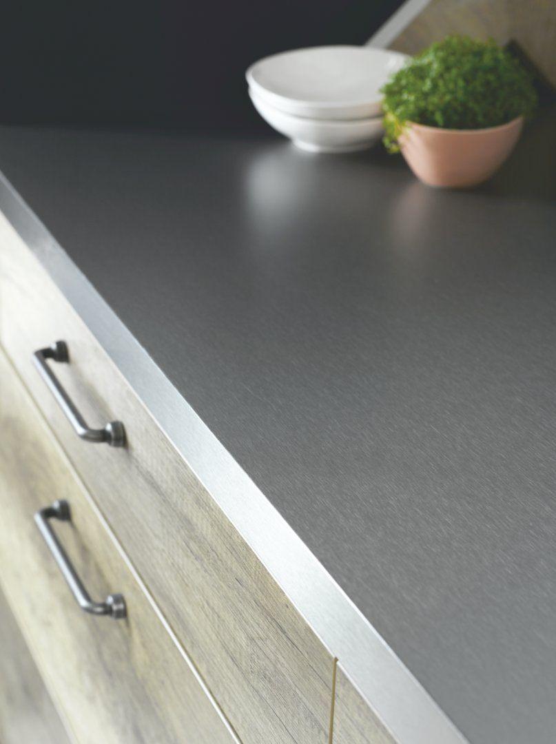 plan de travail inox gris sur mesure cuisinella - Plan De Travail Cuisine Cuisinella