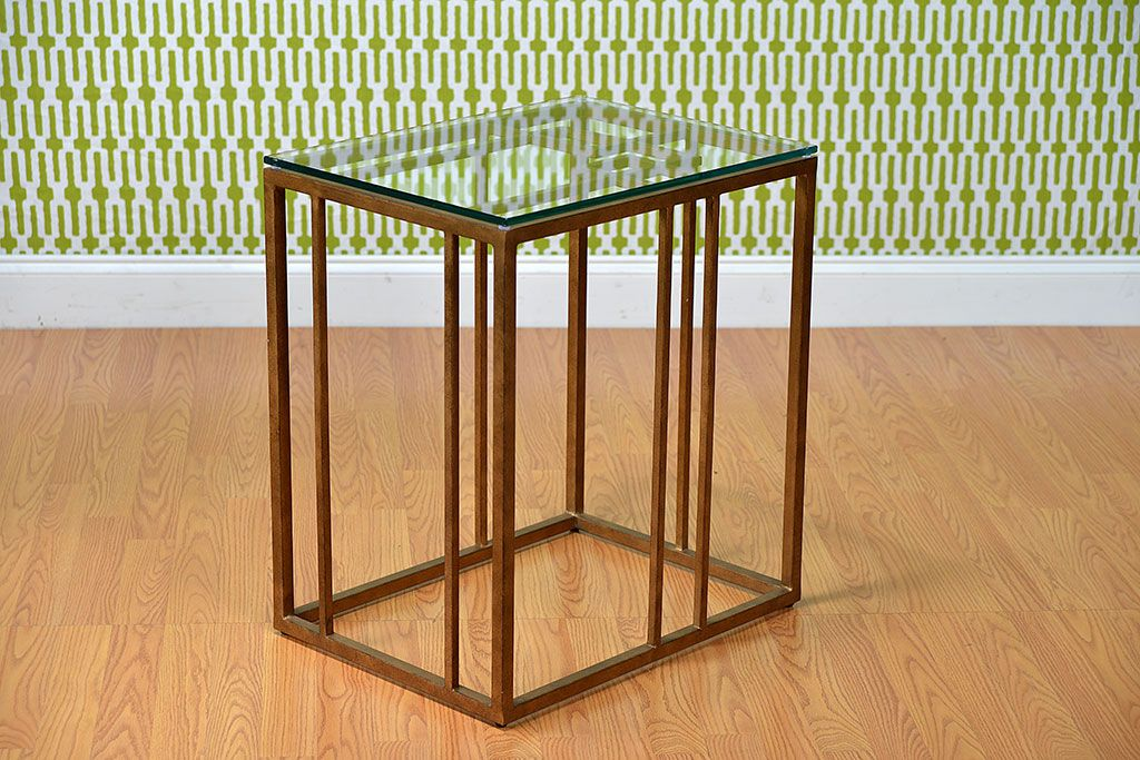 Montevideo Gold Leaf Accent Table - Mecox Gardens Favorite - resume with accent