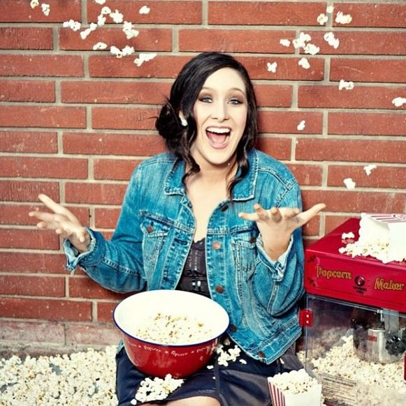 Popcorn photo shoot for all you popcorn lovers!