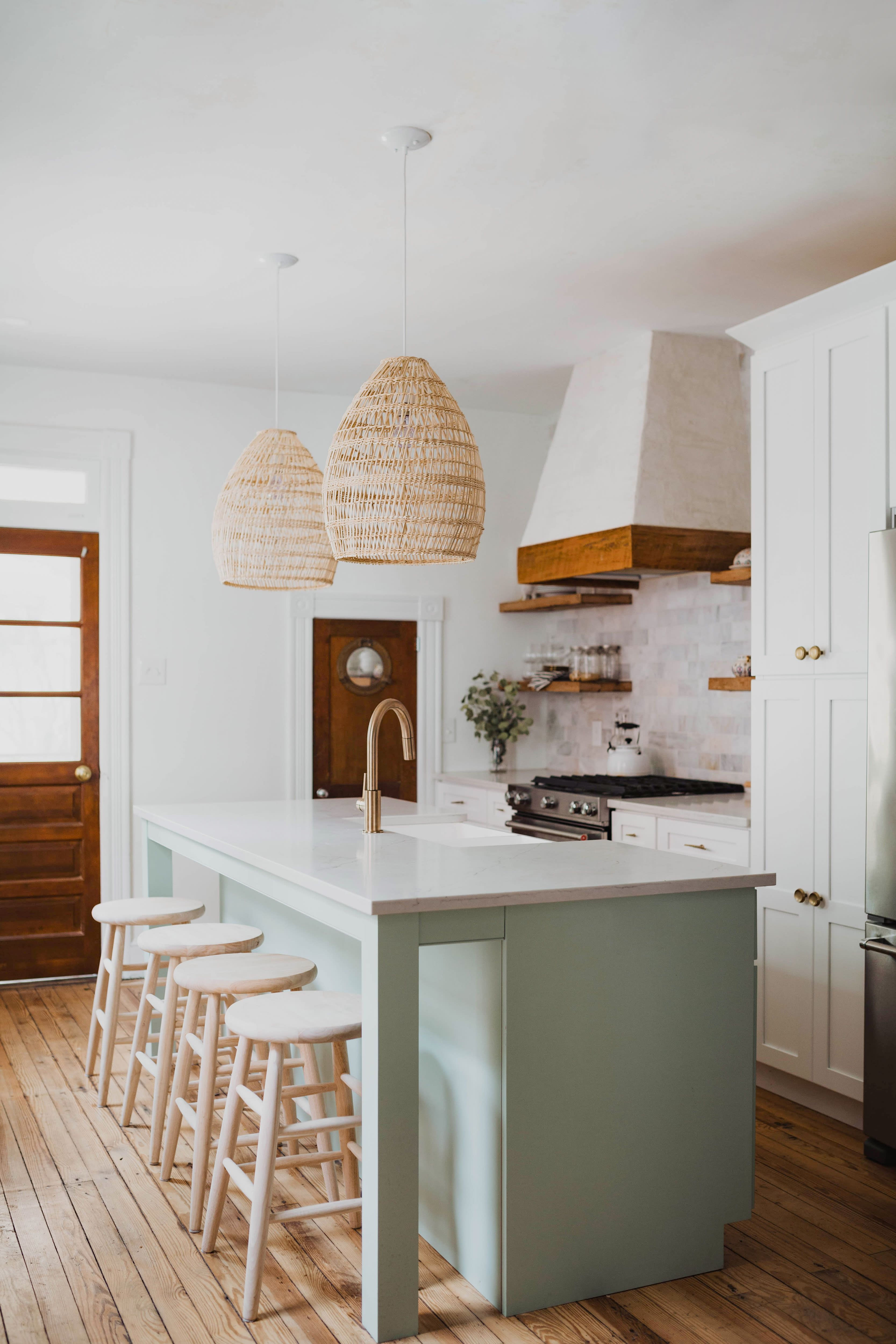 Tour A Renovated 1800s Townhome With A Knockout Master Bathroom Modern Kitchen Design White Modern Kitchen Modern White Kitchen Cabinets