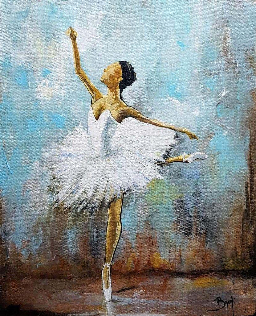 Danseuse Classique Bruni Eric Galerie Peinture Danseuse