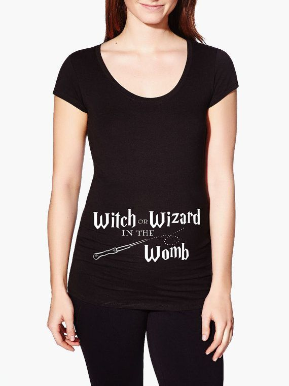 8a360935273a8 Harry Potter Maternity Shirt - Harry Potter Pregnancy announcement - Wizard  or Witch in the Womb Is your baby a Harry Potter Baby? It is a wizard