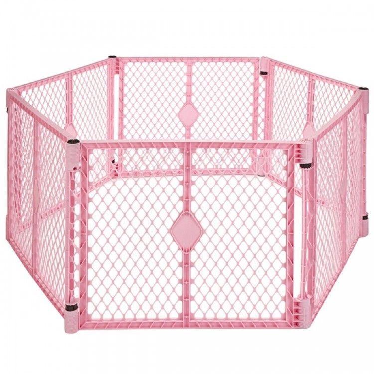 Indoor Outdoor Baby Gate Play Yard Plastic Freestanding 6 Panels