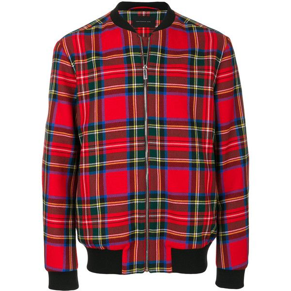 Christopher Kane tartan bomber jacket ($1,883) ❤ liked on Polyvore  featuring men's fashion,