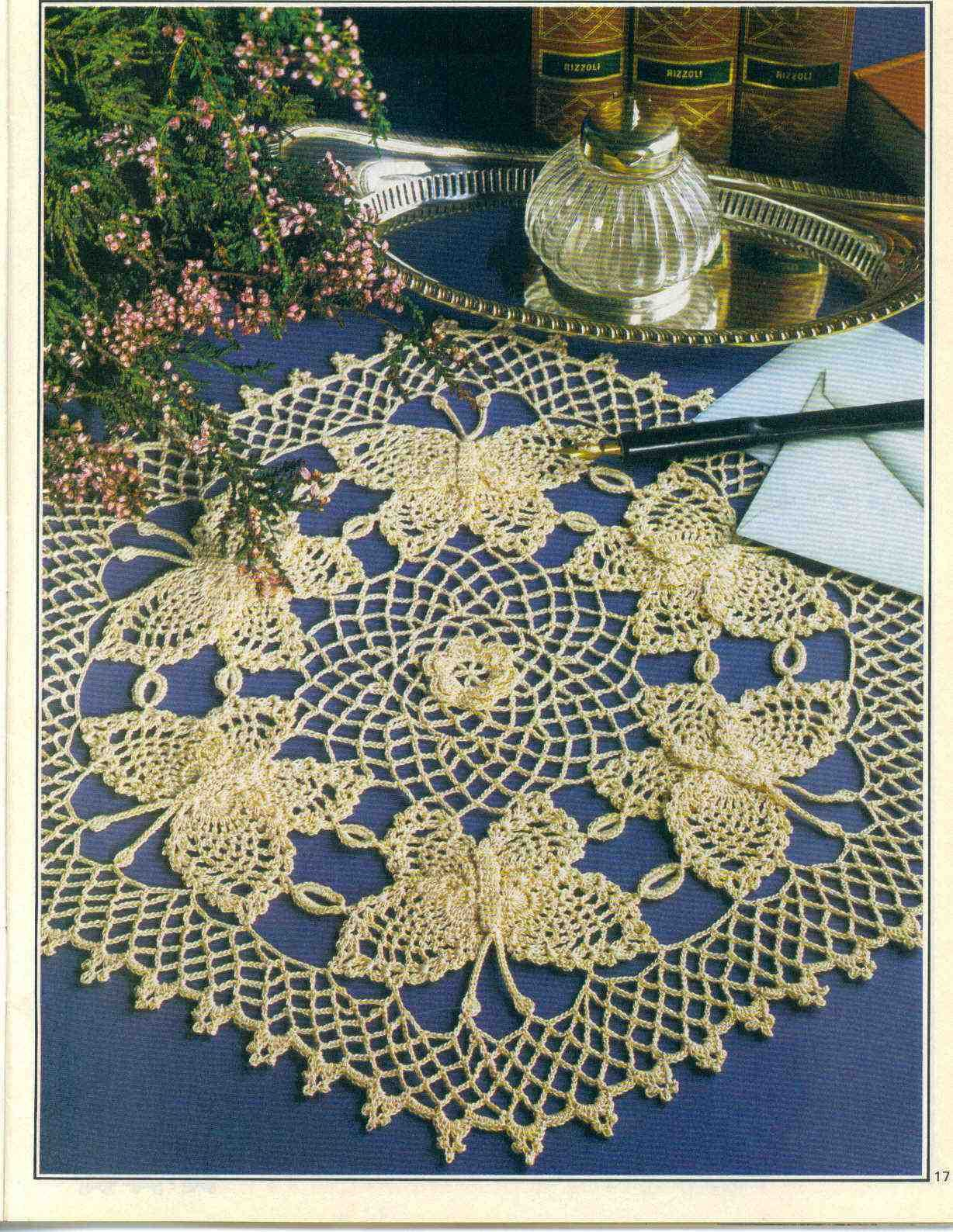 free crochet doily patterns | free crochet butterfly doily pattern ...