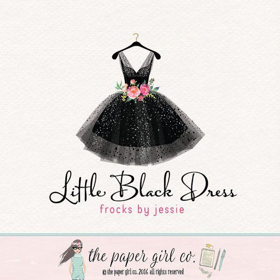 Dress Logo Black Dress Logo Frock Logo Party Dress Logo Dress Boutique Logo Dress Shop Logo Premade Dress Logo Etsy Shop Logo Flower Logo Dress Logo Etsy Shop Logo Boutique Logo