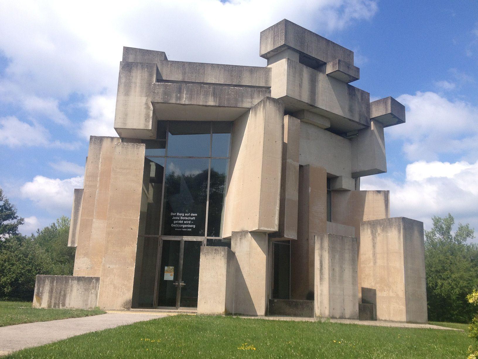 Cubist brutalism wotruba church vienna brutalist and for Architecture brutaliste