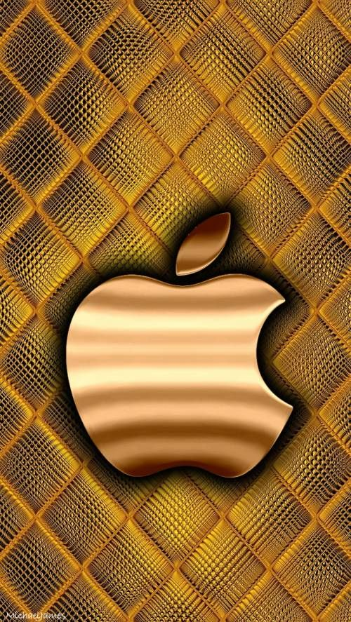 Gold Quilted Apple Gold Wallpaper Iphone Apple Wallpaper Apple Logo Wallpaper Iphone