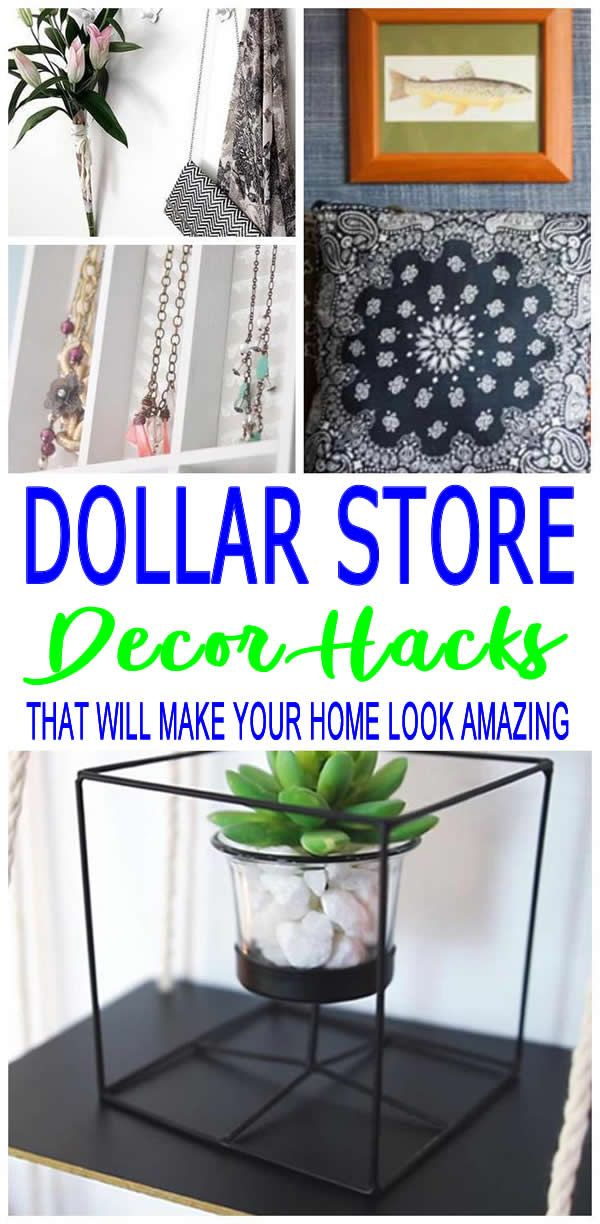Dollar Store Hacks - DIY Home Decor -   15 diy projects Cheap simple ideas