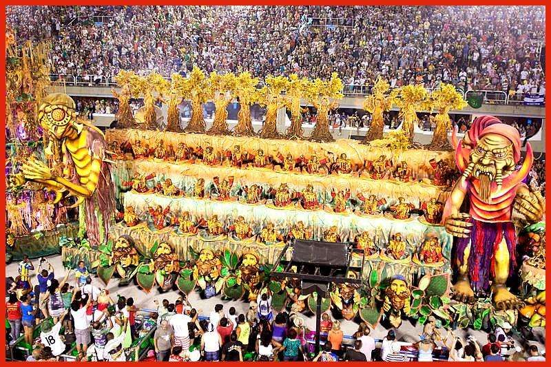 RIO DE JANEIRO  FEBRUARY 11 Show with decorations on carnival Sambodromo in R RIO DE JANEIRO  FEBRUARY 11 Show with decorations on carnival Sambodromo in R  Informationen...