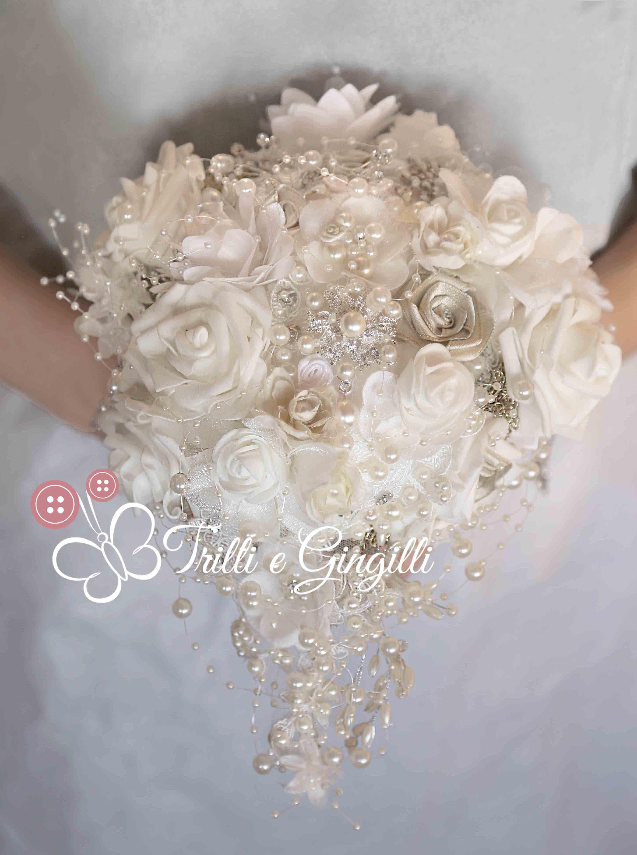 Bouquet Sposa Gioiello.Bouquet Gioiello A Cascata By Trilli E Gingilli Info