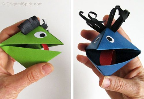 How to make a paper sock puppet step by