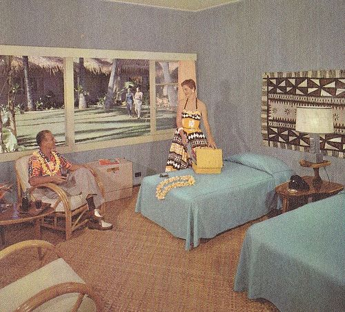Rooms: Hawaiian Village Room Garden View 1950s
