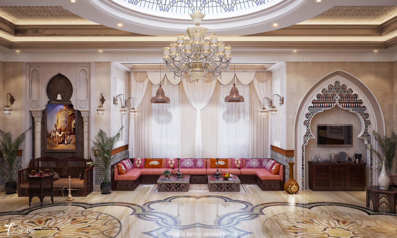 Arabic majlis in Dubai   Arabic decor, Interior design ...