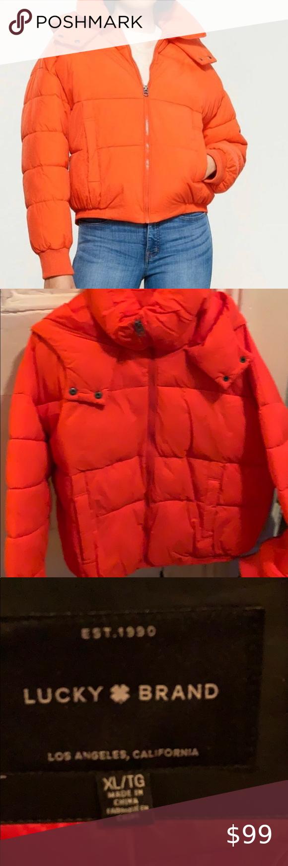 Lucky Brand Drawback Puffer Orange Puffer Jacket Lucky Brand Puffer [ 1740 x 580 Pixel ]