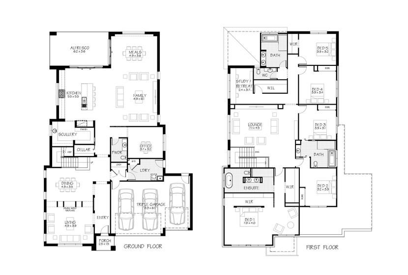 4 Bedroom House Plans In Nsw 4 Bedroom House Plans Large Family House Plan Free House Plans