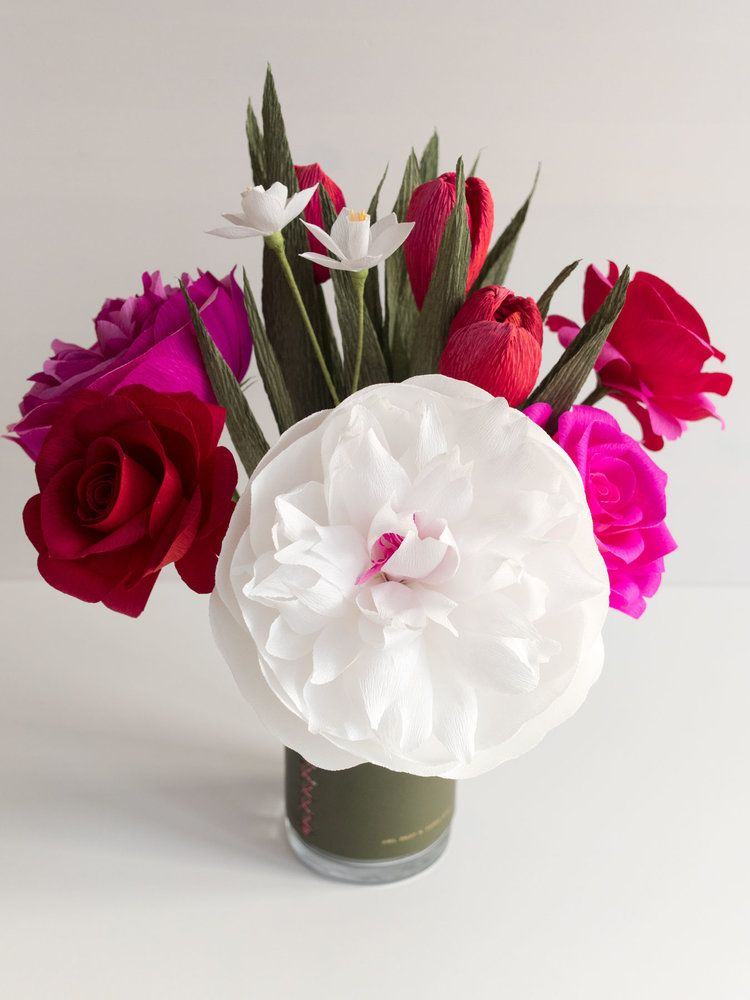 Make Way For Valentine S Day Paper Roses Paper Flowers Flower